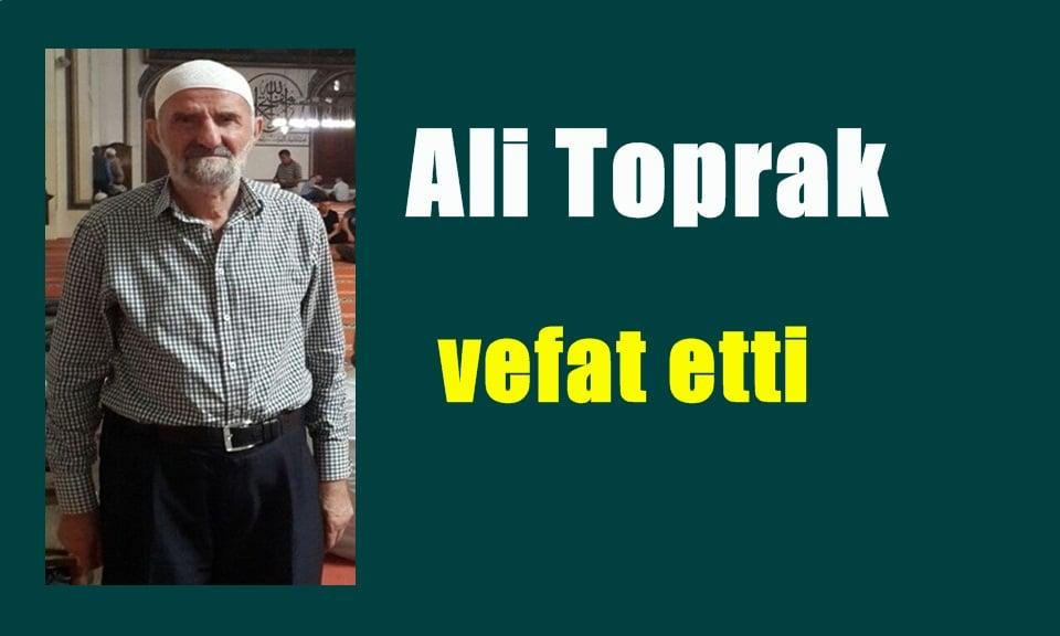 Yaylaönü'nde Ali Toprak vefat etti