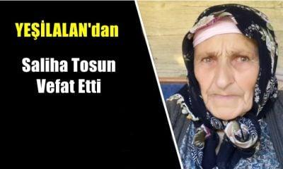 Yeşilalan mahallesinden Saliha Tosun vefat etti