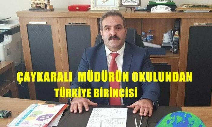 Çaykaralı Müdürün Okulu Trabzon'da Türkiye birincisini çıkardı