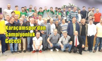 Karaçamspor'dan şampiyonluk kutlaması