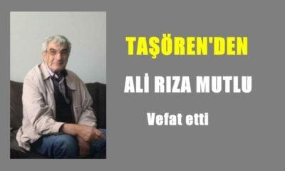 Taşören'den Ali Rıza Mutlu vefat etti