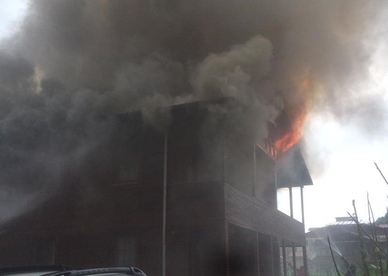 Uzungöl'de korkutan yangın 2