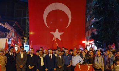 """Çaykara'da """"15 Temmuz Milli Birlik ve Demokrasi Günü"""" kutlandı"""