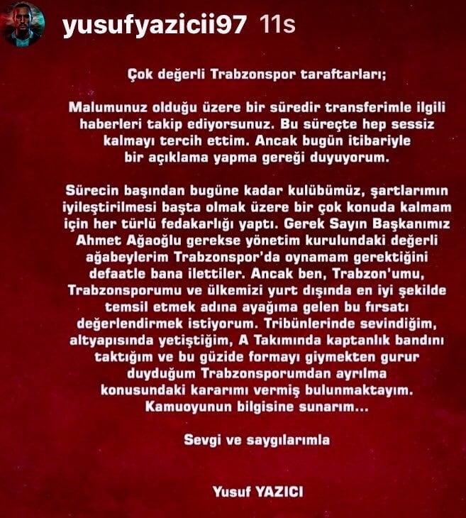 Çaykara'dan Avrupa'ya: Yusuf Yazıcı rekor kırarak gitti! 2