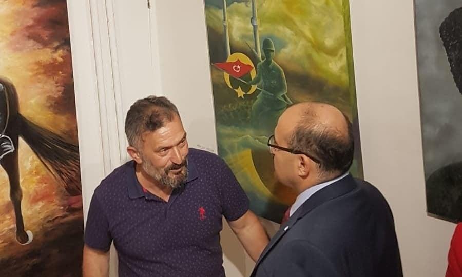 Cumhuriyet sanat sergisi İl kültür müdürlüğünde açıldı 3