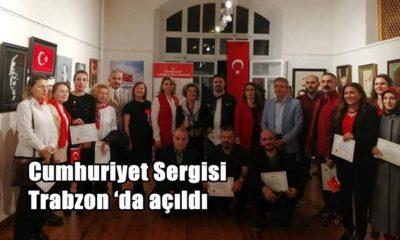 Cumhuriyet sanat  sergisi İl kültür müdürlüğünde açıldı