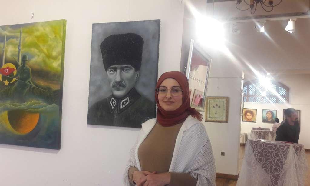 Cumhuriyet sanat  sergisi İl kültür müdürlüğünde açıldı 9