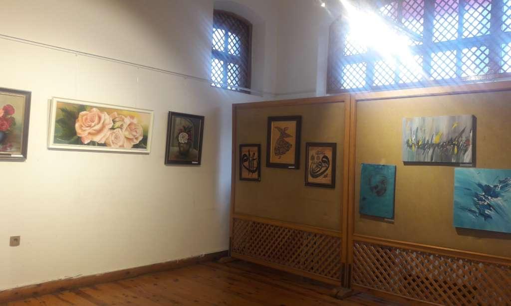 Cumhuriyet sanat sergisi İl kültür müdürlüğünde açıldı 10