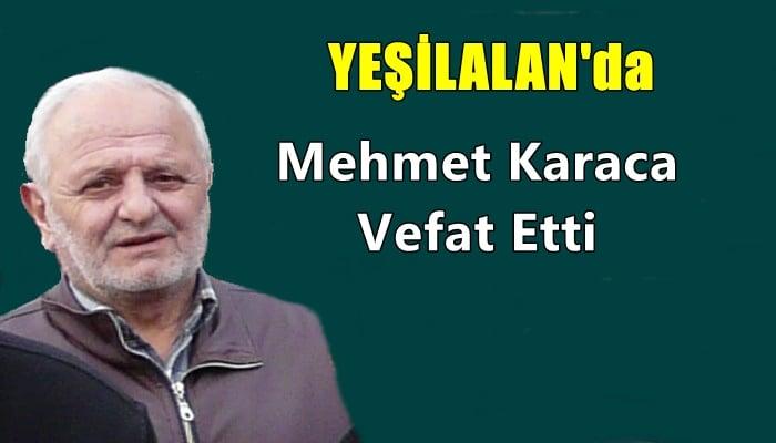 Yeşilalan mahallesinden Mehmet Karaca vefat etti