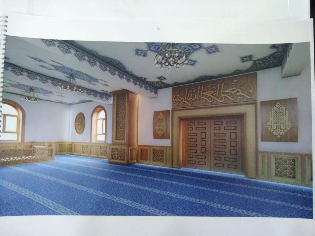 Çaykara Merkez Cami'nin onarımı devam ediyor 4