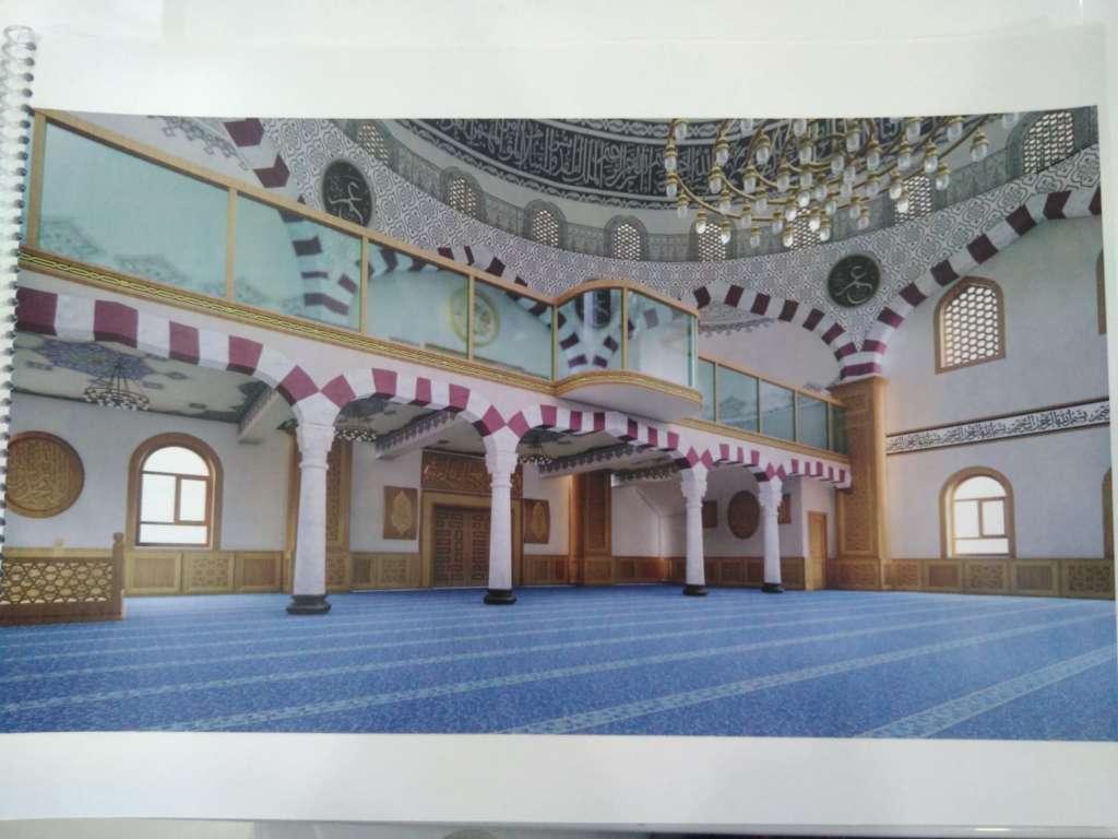 Çaykara Merkez Cami'nin onarımı devam ediyor 5