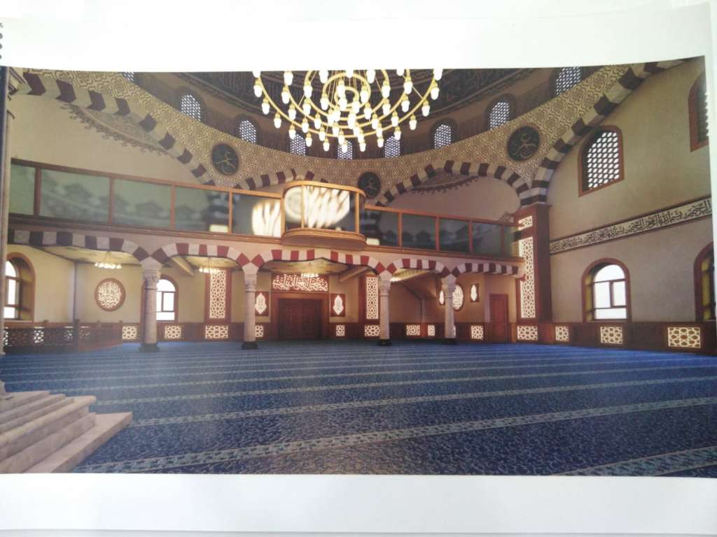 Çaykara Merkez Cami'nin onarımı devam ediyor 10