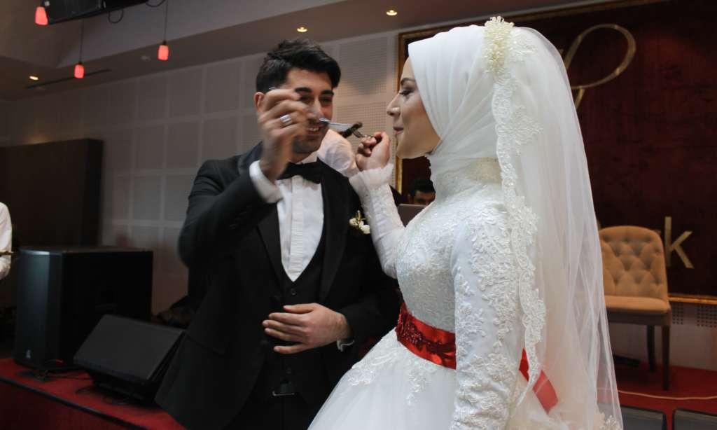 Esra ile Ahmet'in en mutlu günü 2