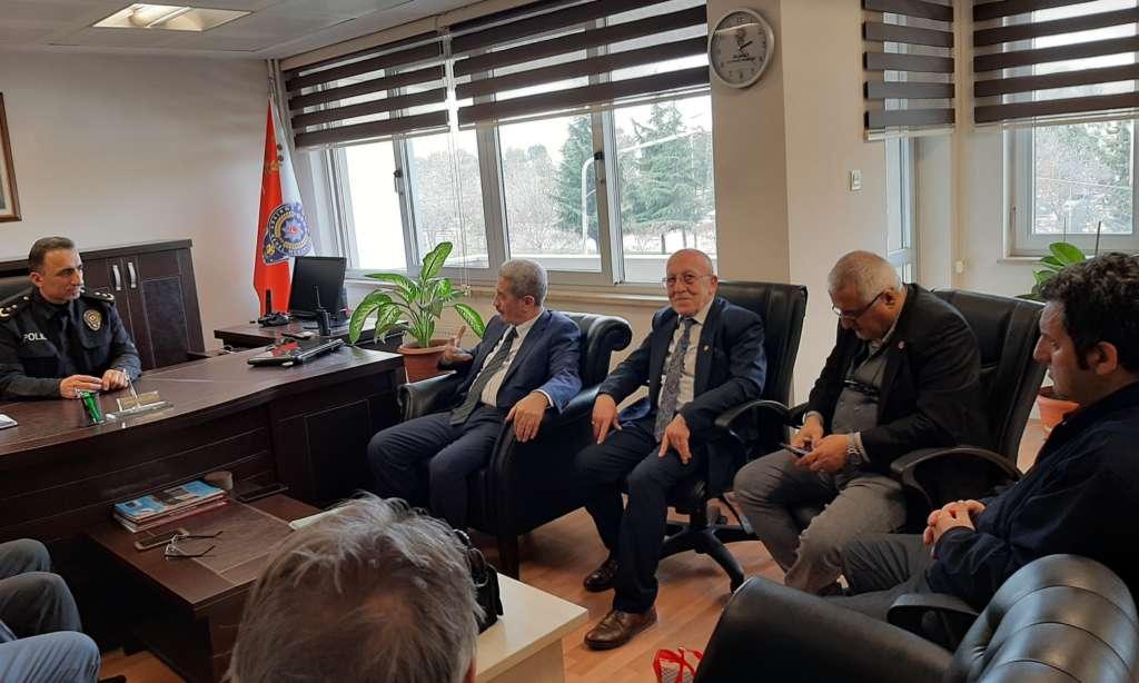 Ortahisar Gazeteciler Cemiyeti Akçaabat Emniyet Müdürünü ziyaret etti 4