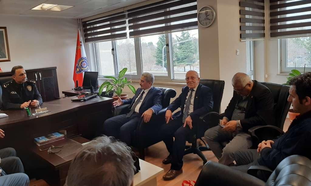 Ortahisar Gazeteciler Cemiyeti Akçaabat Emniyet Müdürünü ziyaret etti 2