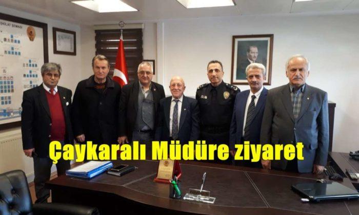 Ortahisar Gazeteciler Cemiyeti Akçaabat Emniyet Müdürünü ziyaret etti