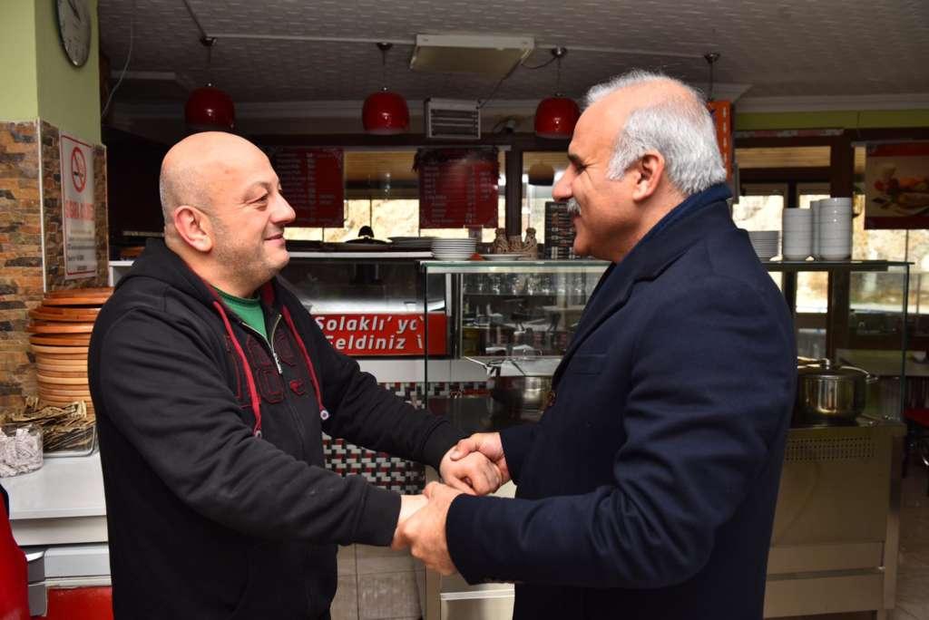 Başkan Zorluoğlu Çaykara'da incelemelerde bulundu 1