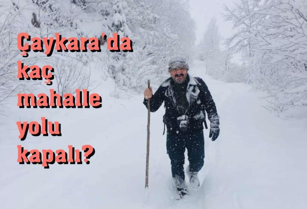 Çaykara'da kar yağışı etkili oluyor…