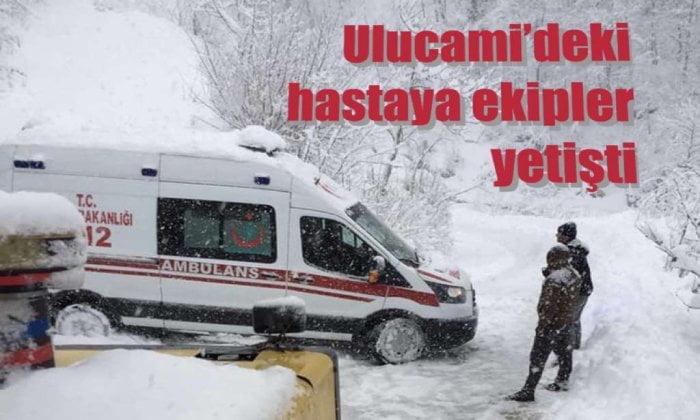 Ekipler Ulucami'deki hastaya yetişti