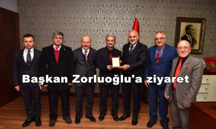 Ortahisar Gazeteciler Cemiyeti Başkan Zorluoğlu'a ziyaret