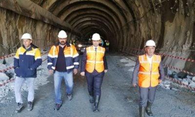 Çaykara tünellerinde kazma işlemi tamamlandı