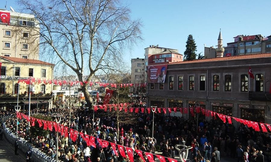 Şehit Kadir Tuncer mahşeri kalabalık ile uğurlandı! 4