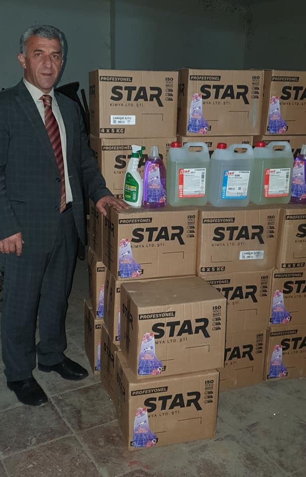 Belediyeye 2 ton hijyen malzemesi bağışladı 2