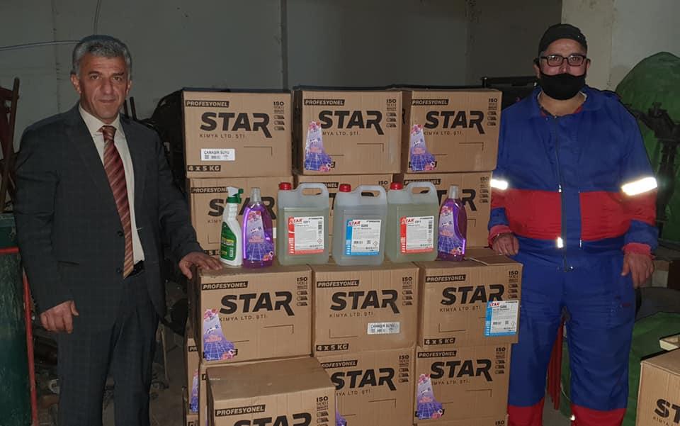 Belediyeye 2 ton hijyen malzemesi bağışladı 3