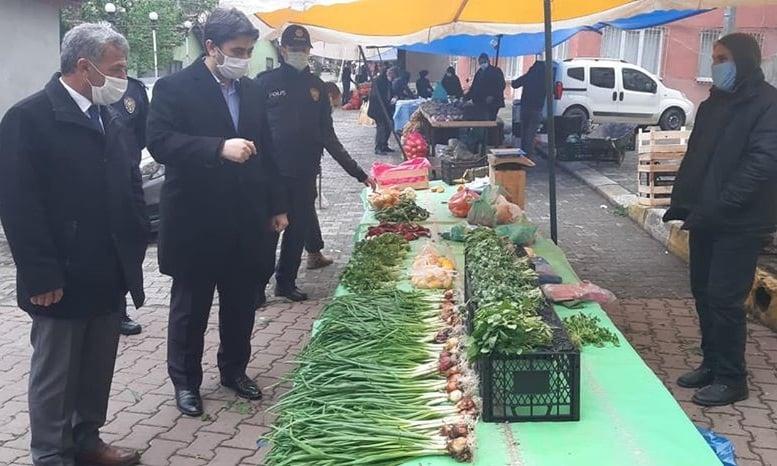 Kaymakam Salih Çiğden Çaykara Pazar esnafını ziyaret etti 3