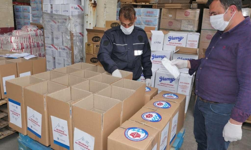 Trabzon Büyükşehir Belediyesi ürettiği maskeleri dağıtımına başlandı 4