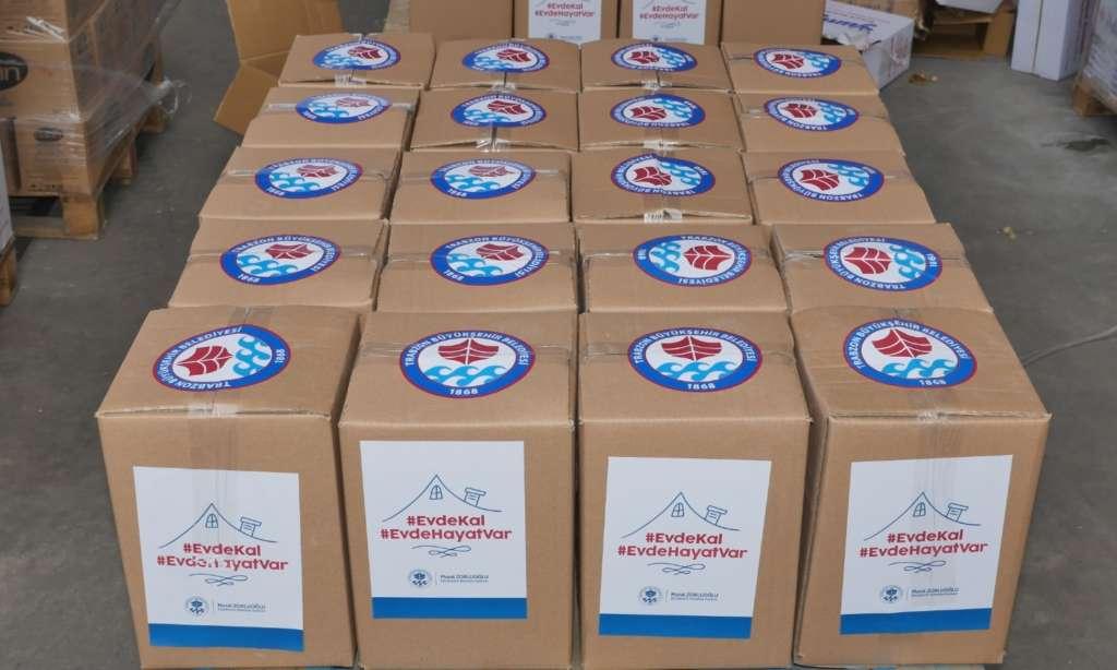 Trabzon Büyükşehir Belediyesi ürettiği maskeleri dağıtımına başlandı 1