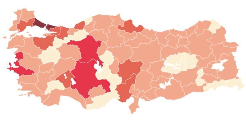 Trabzon'da ve hangi illerde kaç Koronavirüs vakası var