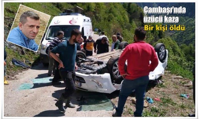 Çambaşında Trafik kazası