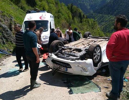 Çambaşında Trafik kazası 1