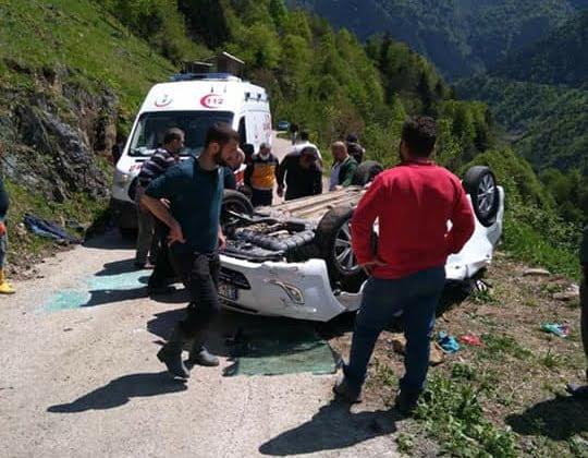 Çambaşında Trafik kazası 2