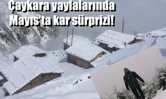 Mayıs'ta kar sürprizi!