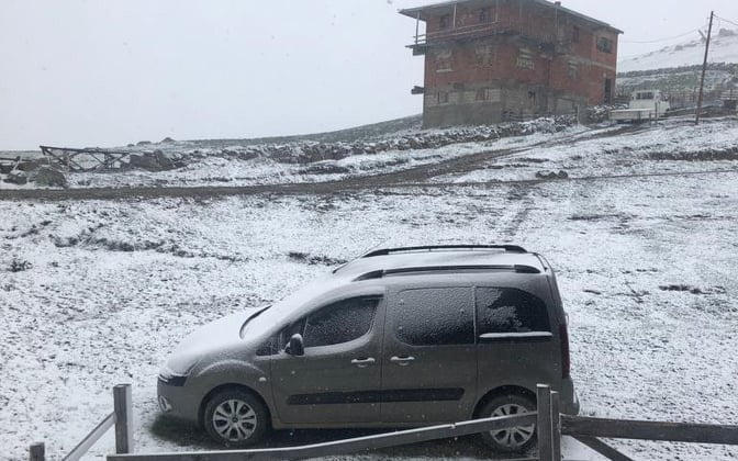 Mayıs'ta kar Sürprizi yaşandı 5