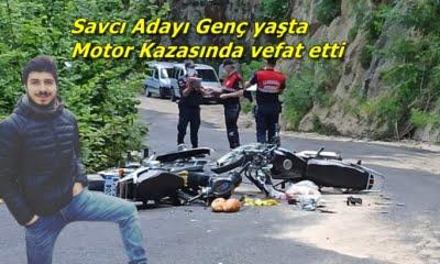 Çaykara'da iki motosiklet çarpıştı olayda bir kişi öldü