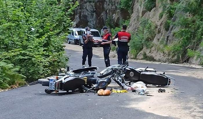 Çaykara'da iki motosiklet çarpıştı olayda bir kişi öldü 5