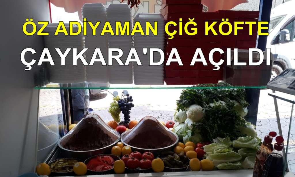 Çaykara'da Çiğ Köfte Dükkanı açıldı