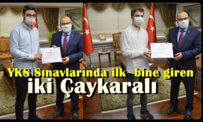 YKS Şampiyonları ödüllerini Trabzon Valisi Ustaoğlu'ndan