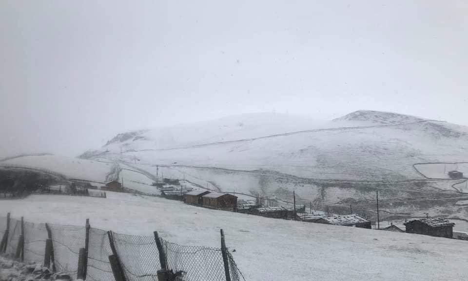Çaykara'nın Yaylalarına yılın ilk karı yağdı 4
