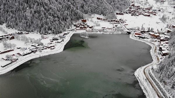İlçemizin Mahallelerinden ve Uzungöl'den kar manzaraları 1