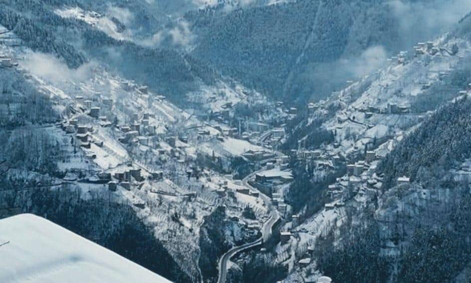 İlçemizin Mahallelerinden ve Uzungöl'den kar manzaraları 11