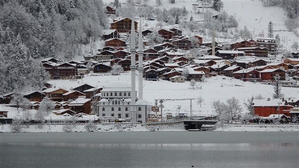 İlçemizin Mahallelerinden ve Uzungöl'den kar manzaraları 15
