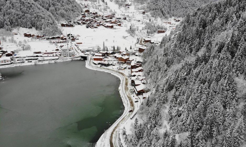 İlçemizin Mahallelerinden ve Uzungöl'den kar manzaraları 2
