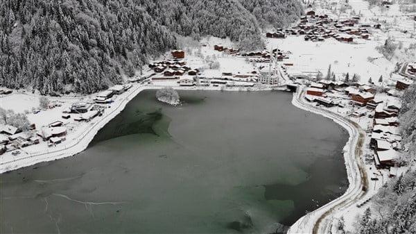 İlçemizin Mahallelerinden ve Uzungöl'den kar manzaraları 5