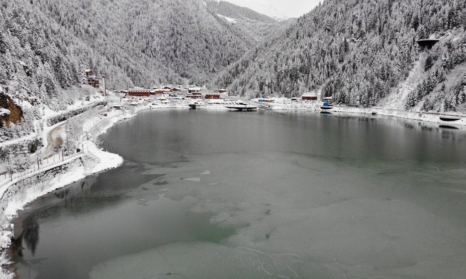 İlçemizin Mahallelerinden ve Uzungöl'den kar manzaraları 7