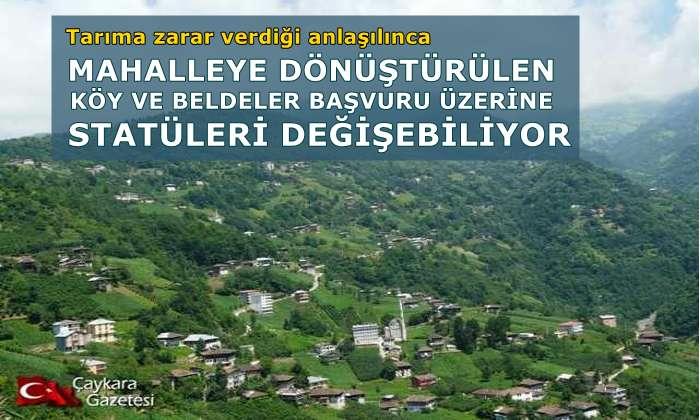 Büyükşehirlerde köyler 'KIRSAL MAHALLE' olacak