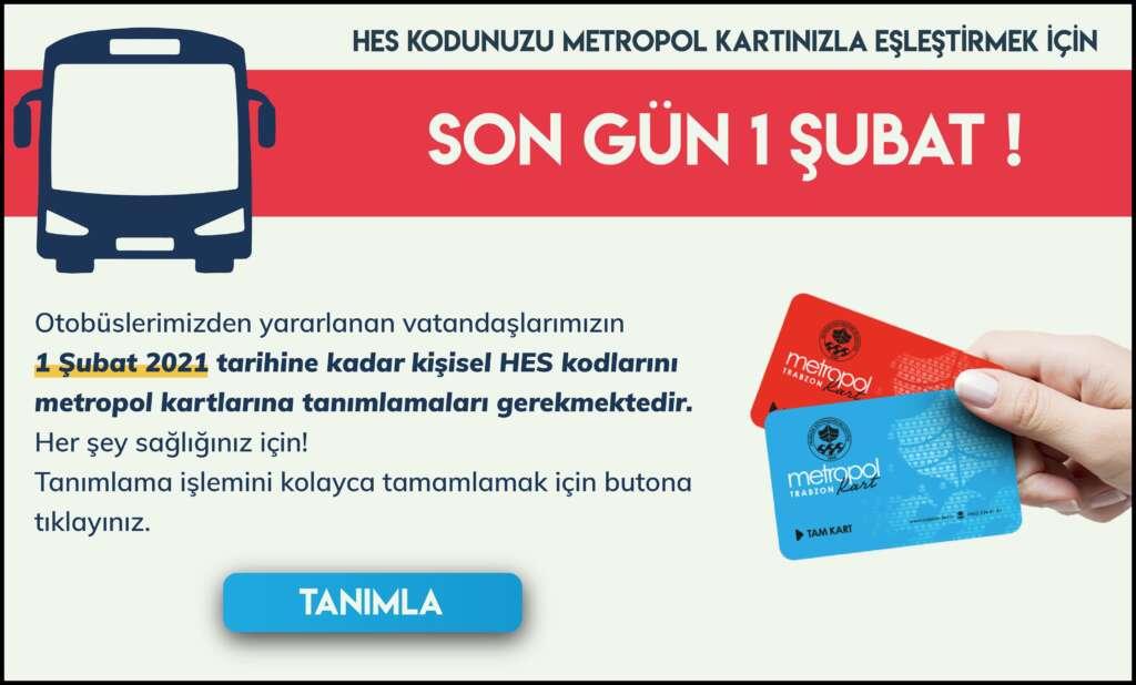 Trabzon Büyükşehir Belediyesi, toplu taşıma araçlarına Hes kodu uygulaması